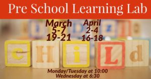 Preschool Learning Lab     April Sessions